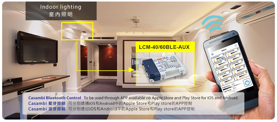 LCM-40/60BLE Series Bluetooth Mesh LED Driver