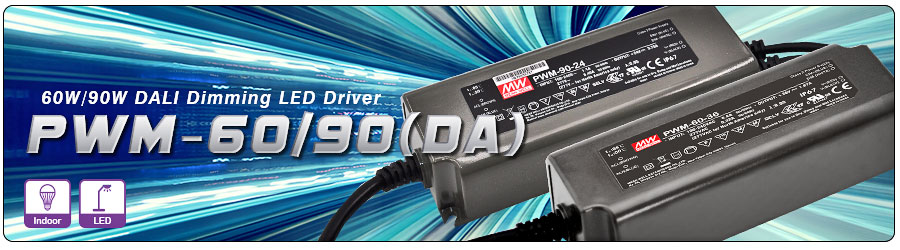 PWM-60/90 Series 60/90W DALI Dimming function LED Driver -Fabricant